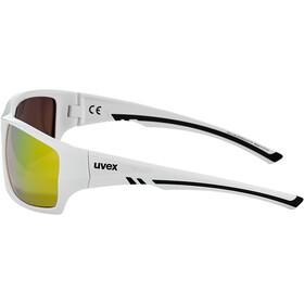 UVEX Sportstyle 222 Pola Brille white/mirror yellow